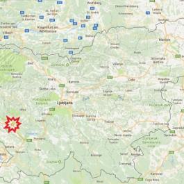 zemljevid slovenija